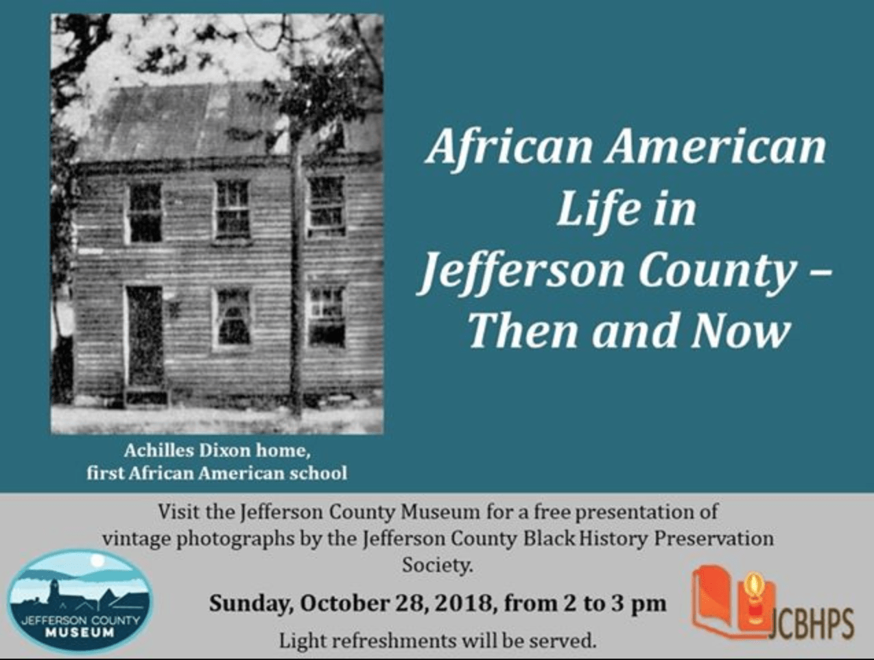African American Life in Jefferson County—Then and Now