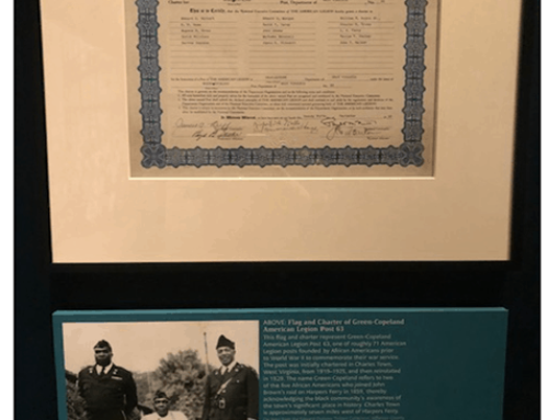 Charles Town WV American Legion Post 63 Display NMAAHC